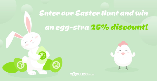 Join our egg-citing Easter Discount Hunt and spot your own 25% discount!
